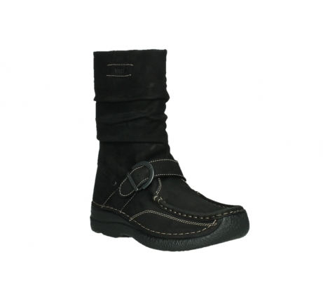 wolky mid calf boots 06267 roll jacky 50000 black oiled leather_4