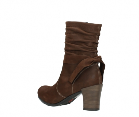 wolky mid calf boots 07750 cara 13410 tabaccobrown nubuckleather_4