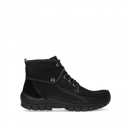 wolky lace up boots 04725 jump 16000 black nubuck