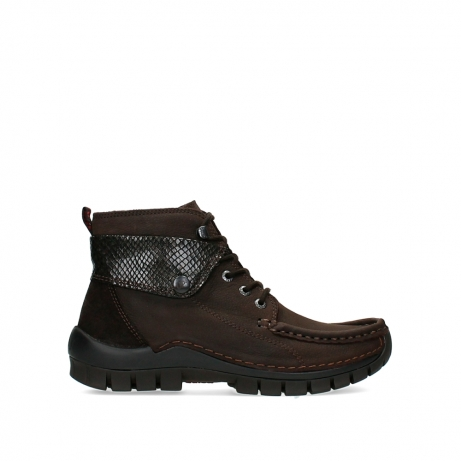 wolky lace up boots 04725 jump 19305 dark brown nubuck