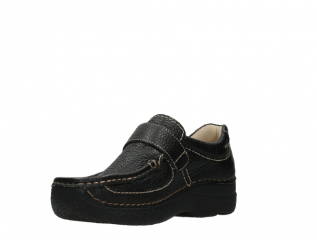 wolky slipons 06221 roll strap 70000 black printed leather_10