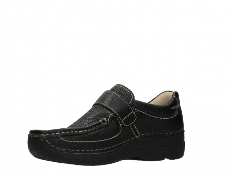 wolky slipons 06221 roll strap 70000 black printed leather_11