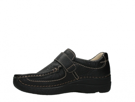 wolky slipons 06221 roll strap 70000 black printed leather_12