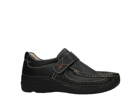 wolky slipons 06221 roll strap 70000 black printed leather_2