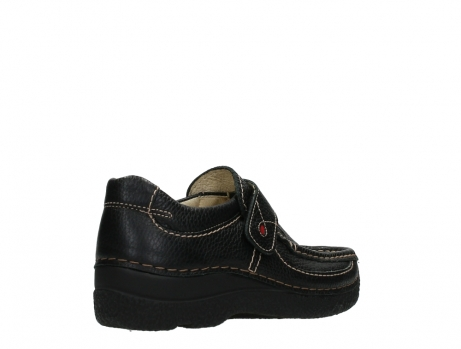 wolky slipons 06221 roll strap 70000 black printed leather_22