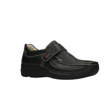 wolky slipons 06221 roll strap 70000 black printed leather_3