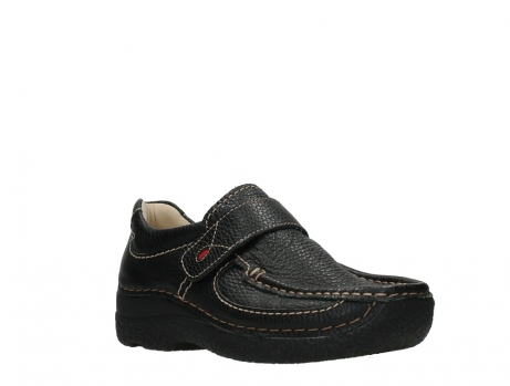 wolky slipons 06221 roll strap 70000 black printed leather_4