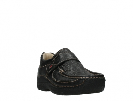 wolky slipons 06221 roll strap 70000 black printed leather_5