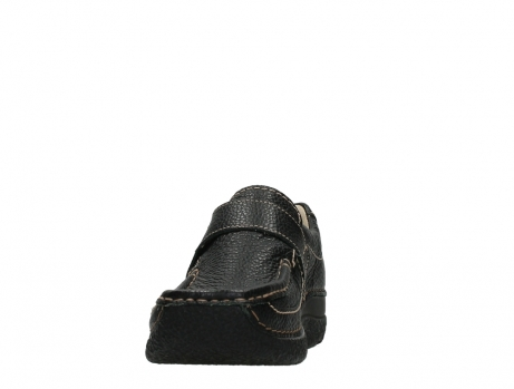 wolky slipons 06221 roll strap 70000 black printed leather_8