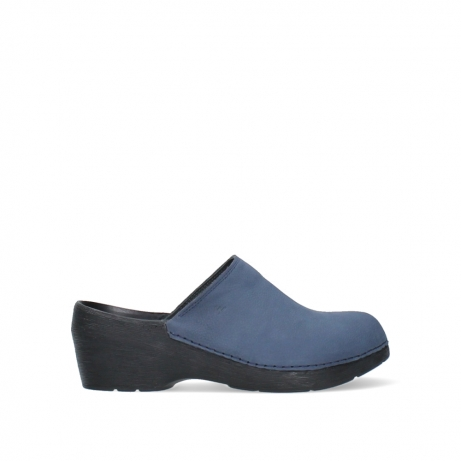wolky clogs 06075 pro clog 11800 blue nubuck