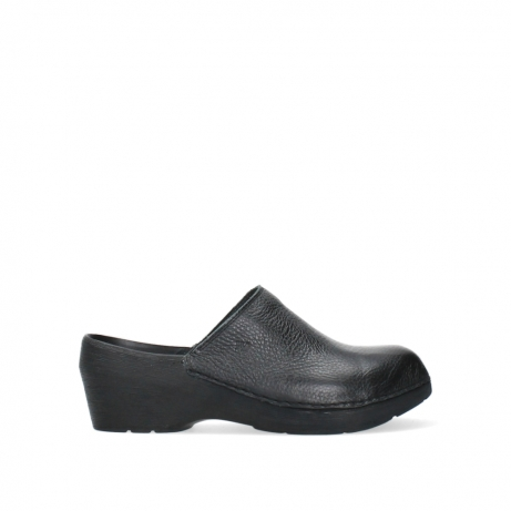 wolky clogs 06075 pro clog 70000 black leather