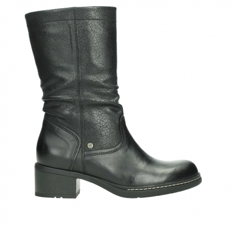 wolky mid calf boots 01261 edmonton 39000 black leather