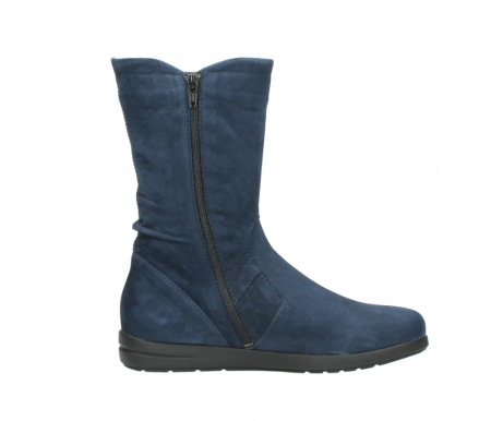 wolky mid calf boots 02424 newton 13800 blue nubuckleather_13