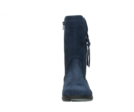 wolky mid calf boots 02424 newton 13800 blue nubuckleather_19