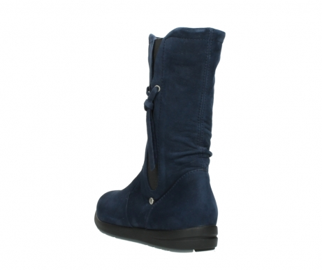 wolky mid calf boots 02424 newton 13800 blue nubuckleather_5