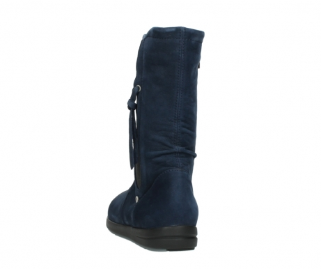 wolky mid calf boots 02424 newton 13800 blue nubuckleather_6