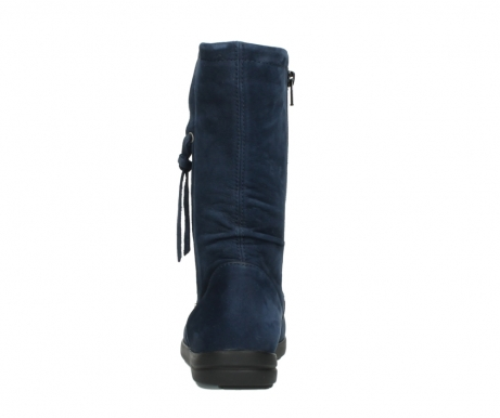 wolky mid calf boots 02424 newton 13800 blue nubuckleather_7