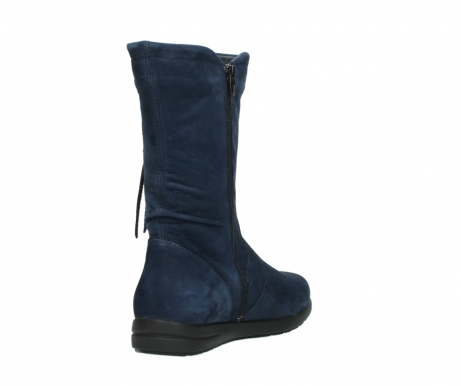 wolky mid calf boots 02424 newton 13800 blue nubuckleather_9