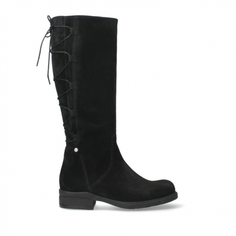wolky long boots 02633 longview 45000 black suede