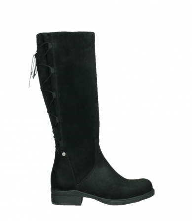 wolky long boots 02633 longview 45000 black suede_1