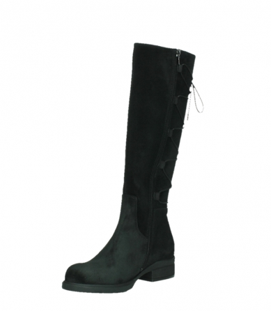 wolky long boots 02633 longview 45000 black suede_10