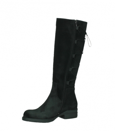 wolky long boots 02633 longview 45000 black suede_11