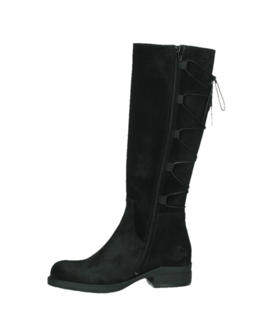 wolky long boots 02633 longview 45000 black suede_12