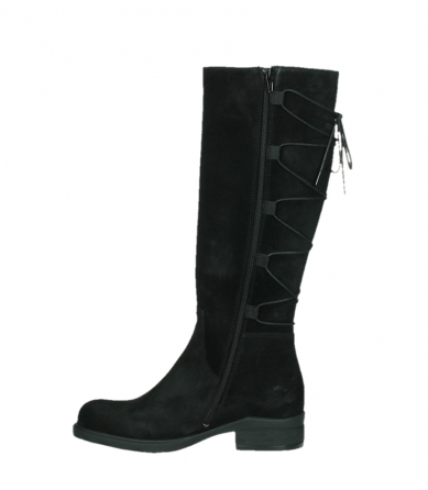 wolky long boots 02633 longview 45000 black suede_13