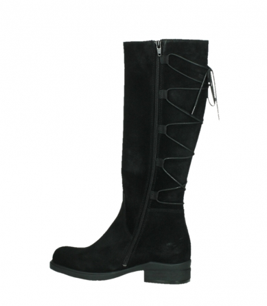 wolky long boots 02633 longview 45000 black suede_14