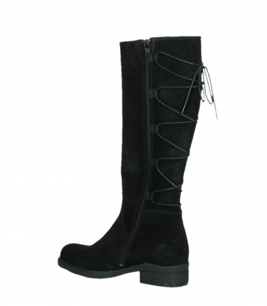 wolky long boots 02633 longview 45000 black suede_15