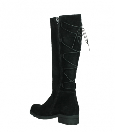 wolky long boots 02633 longview 45000 black suede_16