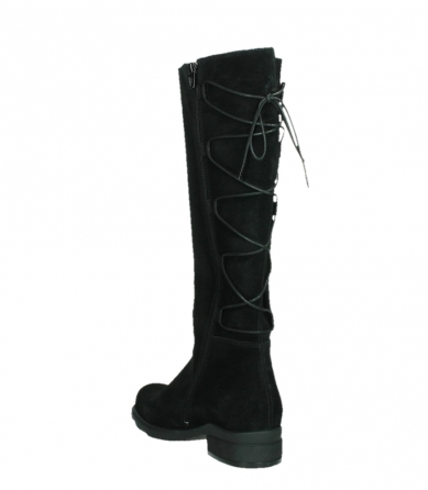 wolky long boots 02633 longview 45000 black suede_17