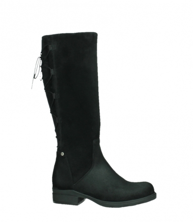 wolky long boots 02633 longview 45000 black suede_2