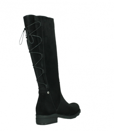 wolky long boots 02633 longview 45000 black suede_22