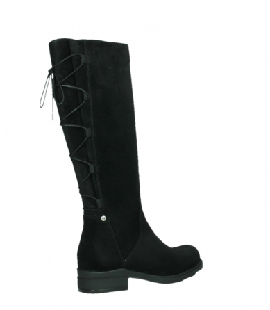 wolky long boots 02633 longview 45000 black suede_23