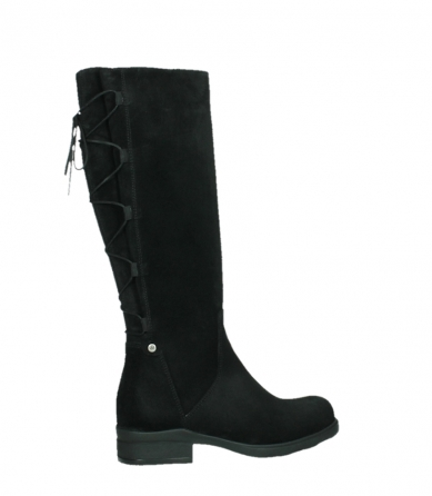 wolky long boots 02633 longview 45000 black suede_24