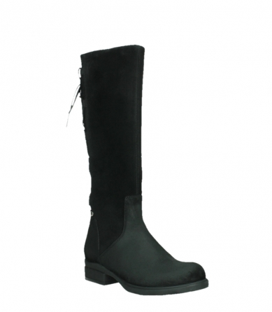 wolky long boots 02633 longview 45000 black suede_4