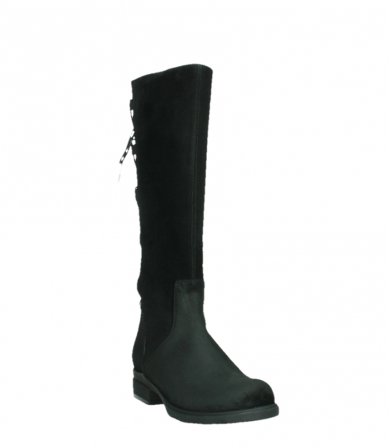 wolky long boots 02633 longview 45000 black suede_5