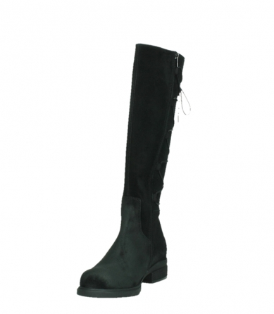 wolky long boots 02633 longview 45000 black suede_9