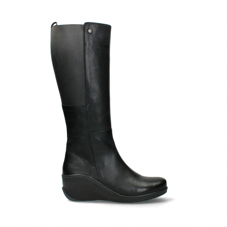 wolky long boots 03877 tanana 30000 black leather