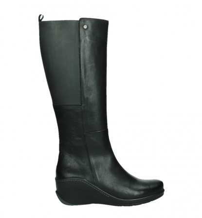 wolky long boots 03877 tanana 30000 black leather_1