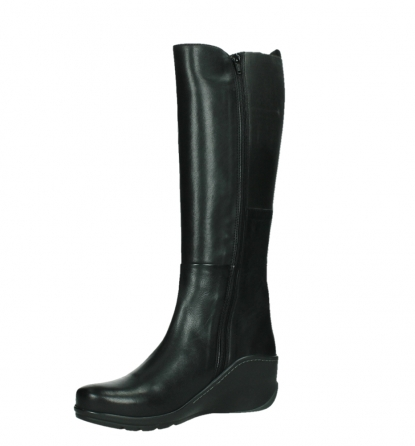 wolky long boots 03877 tanana 30000 black leather_11
