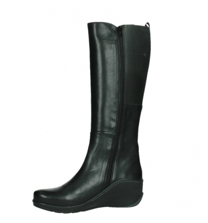 wolky long boots 03877 tanana 30000 black leather_12