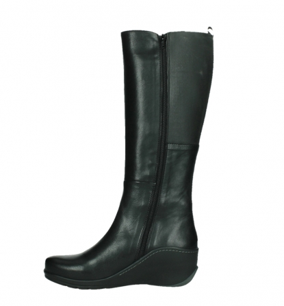 wolky long boots 03877 tanana 30000 black leather_13