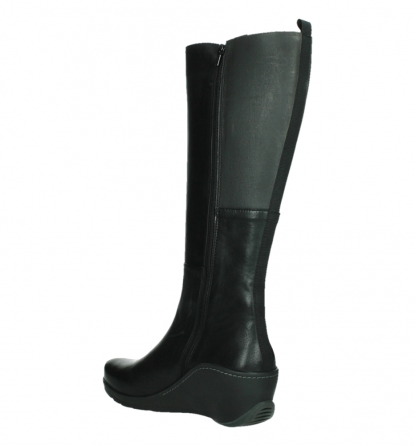 wolky long boots 03877 tanana 30000 black leather_16