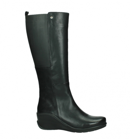 wolky long boots 03877 tanana 30000 black leather_2
