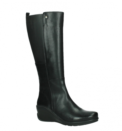 wolky long boots 03877 tanana 30000 black leather_3