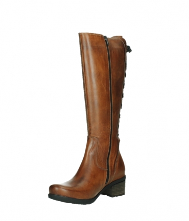 wolky long boots 07505 seoul 30430 cognac leather_10
