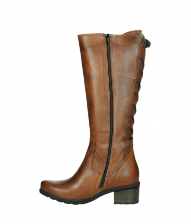 wolky long boots 07505 seoul 30430 cognac leather_13