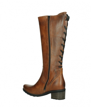 wolky long boots 07505 seoul 30430 cognac leather_15
